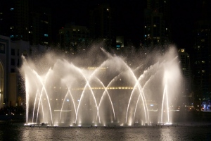the Dubai Fountain show