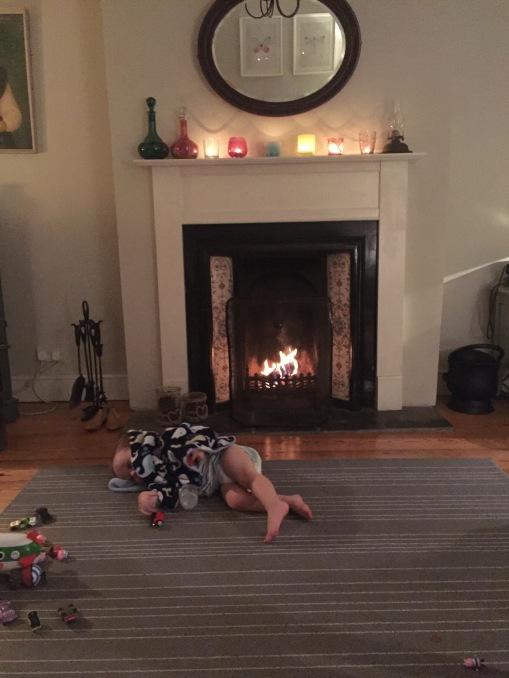 warming his bum